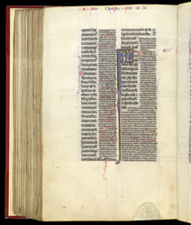 Beginning of St Paul's First Letter to the Thessalonians, with Commentary, in a Copy of the Pauline Epistles With Explanatory Notes